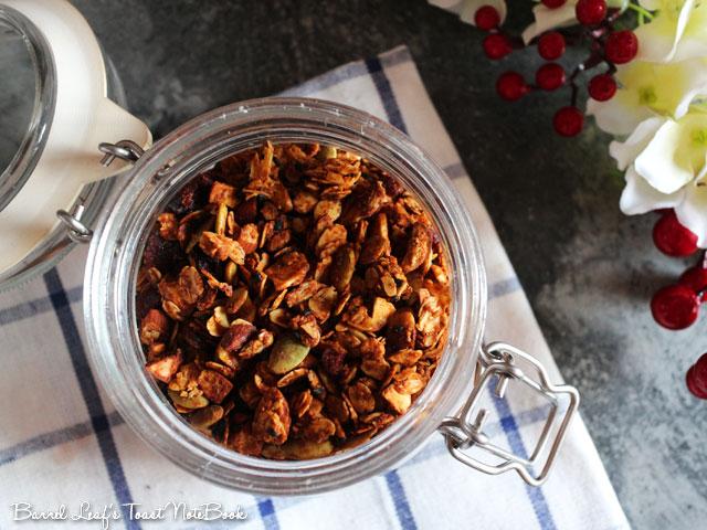 純素花生醬燕麥穀片 Vegan Peanut Butter Granola (4)