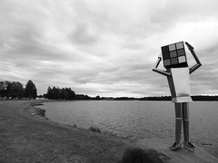 Statue, Lake Siljan, Mora, Sweden