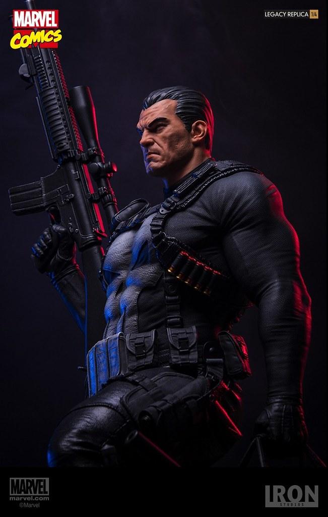 「只要你有罪,你就該死!」Iron Studios Marvel Comics【制裁者】The Punisher 1/4 比例全身場景雕像