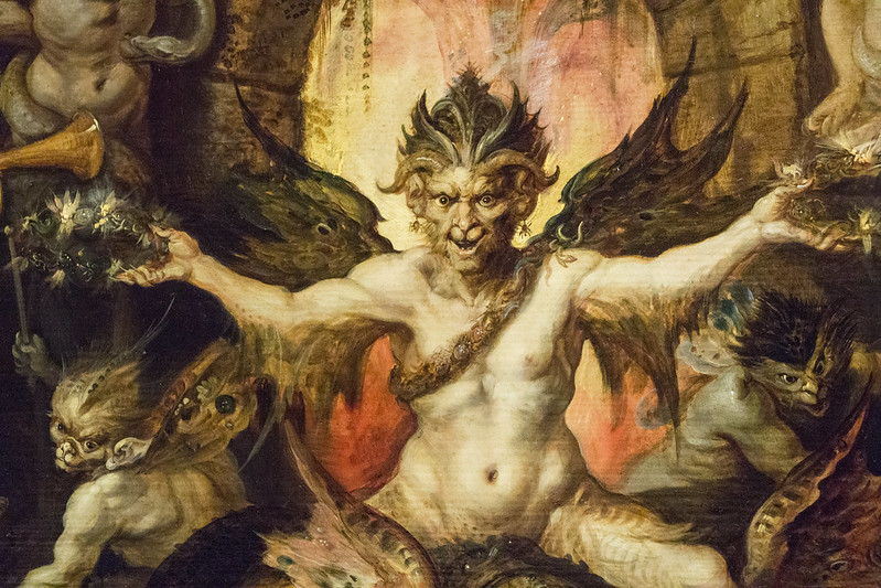 Frans Francken the Younger -  Mankind's Eternal Dilemma, The Choice Between Virtue and Vice,  detail, 1633