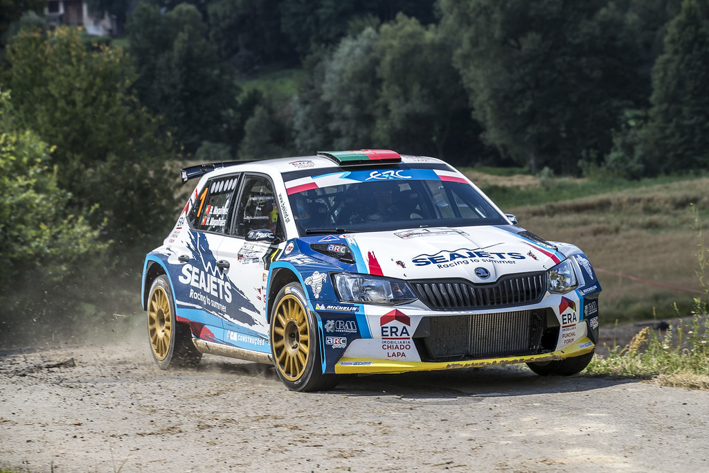 01 MAGALHÃES Bruno (PRT)  MAGALHÃES Hugo (PRT) Skoda Fabia R5 action during the 2017 European Rally Championship Rally Rzeszowski in Poland from August 4 to 6 - Photo Gregory Lenormand / DPPI