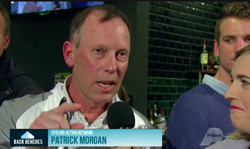 Patrick Morgan in media appearance