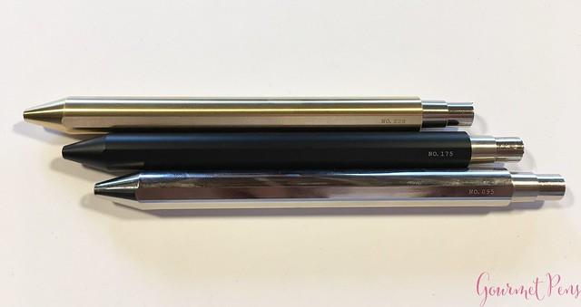 Review @InventeryCo Mechanical Pens - Brass, Chrome, Onyx 9