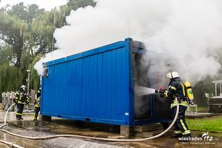 Containerbrand Klärwerk Auringen 12.08.17