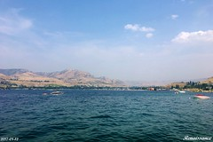 Vivid turquoise color of the Lake Chelan