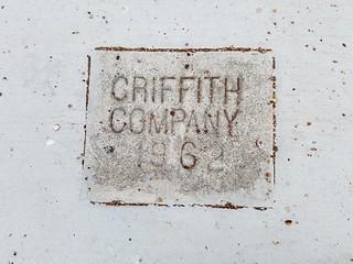 Sidewalk Date Marker  - Griffith Company - 1962