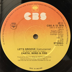 EARTH,WIND & FIRE:LET'S GROOVE(LABEL SIDE-B)