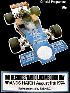 Programma dell'evento motoristico @ Brands Hatch - 1974