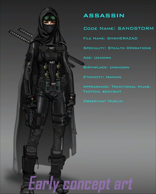 Агенти Mayhem - Assassin Concept Art