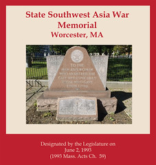 State Southwest Asia War Memorial, Worcester, MA