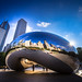 Morning sun at the Cloud Gate in Chicago - Illinois - USA by R.Smrekar-CH