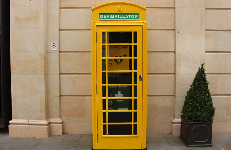 Telephone box, Bath, England