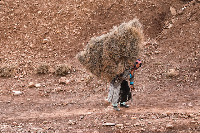 Working woman in Morocco.