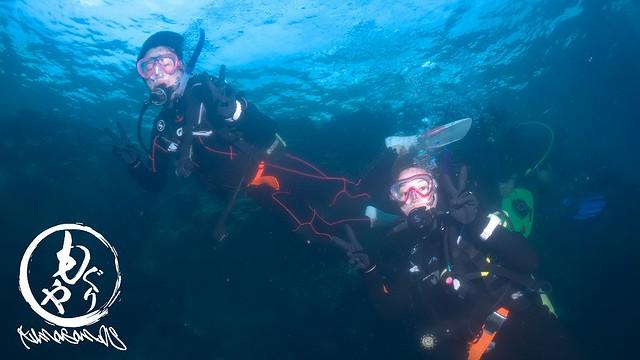 バディ潜水ばっちりできて無事にOWダイバー認定です♪