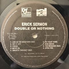 ERICK SERMON:DOUBLE OR NOTHING(LABEL SIDE-B)