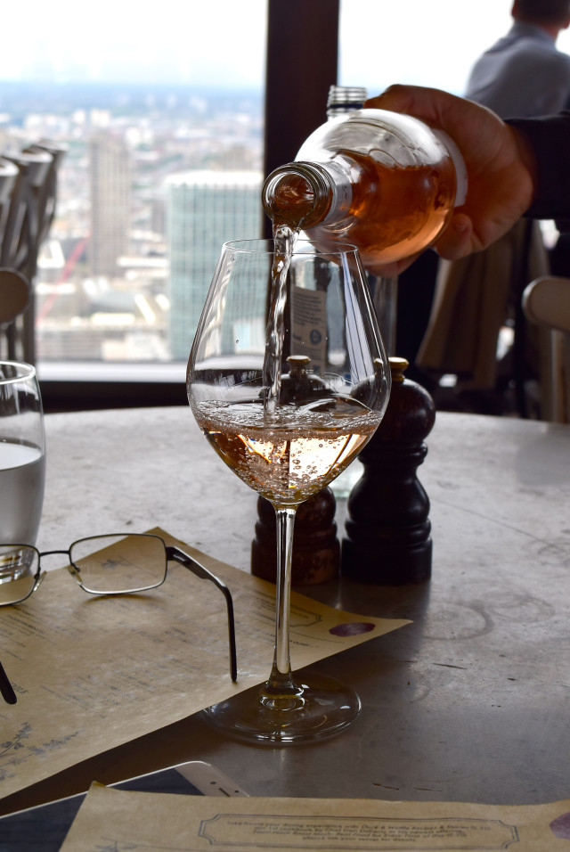 Rose Wine at Duck and Waffle | www.rachelphipps.com @rachelphipps