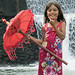 Girl at the waterfall-motoros redőnyök