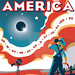 Eclipse Across America Red-White-and-Blue Poster by NASA Goddard Photo and Video
