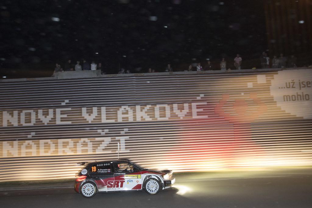 19 GRYAZIN Nikolay (LVA) FEDOROV Yaroslav (RUS) Skoda Fabia R5 action during the 2017 European Rally Championship ERC Barum rally,  from August 25 to 27, at Zlin, Czech Republic - Photo Gregory Lenormand / DPPI
