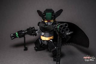 充滿暴戾之氣的黑色惡魔!!LEGO MOC 作品 真蓋特機器人 世界最後之日【黑蓋特】Black Getter