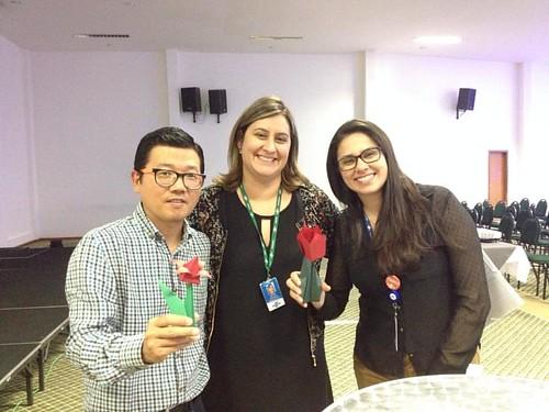 Gratidão à Vanessa e Betina do Sebrae que me convidaram para este ciclo de palestras. Origami sempre presente! #origami #sebrae #alagoinhas #neuromarketing