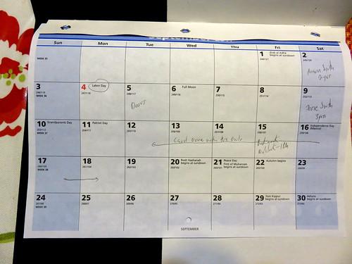 September 2017 Diary