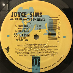 JOYCE SIMS:WALKAWAY(LABEL SIDE-A)
