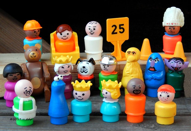 Gathering of Fisher Price Little People Toys
