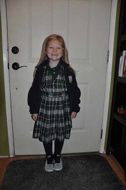 Hadley First Day of Kindergarten