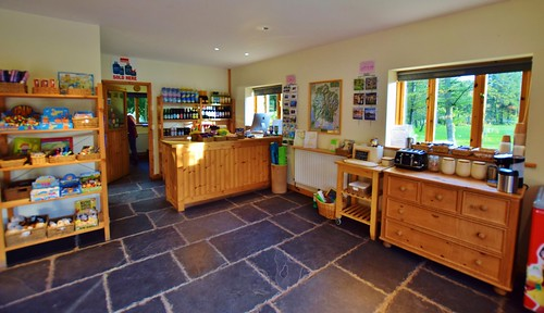 Eskdale campsite Lake District - reception and shop