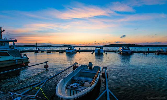 September sunset colours