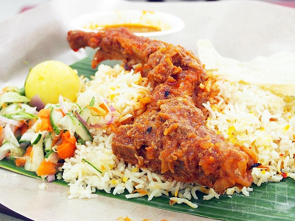 briyani, food, food review, nasi briyani, pork, pork briyani, rainbow prata, review, roti prata, singapore, wave9, woodlands, biryani,pork biryani, banana leaf pork briyani