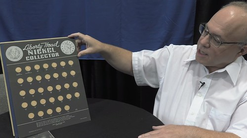 David LAnge with Liberty NIckel coin board