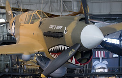 Curtiss P-40E   Lope's Hope  USAC USAF pilot and World War II ace former Deputy Museum Director Donald S. Lopez Udvar-Hazy National Air and Space Museum Smithsonian Institution