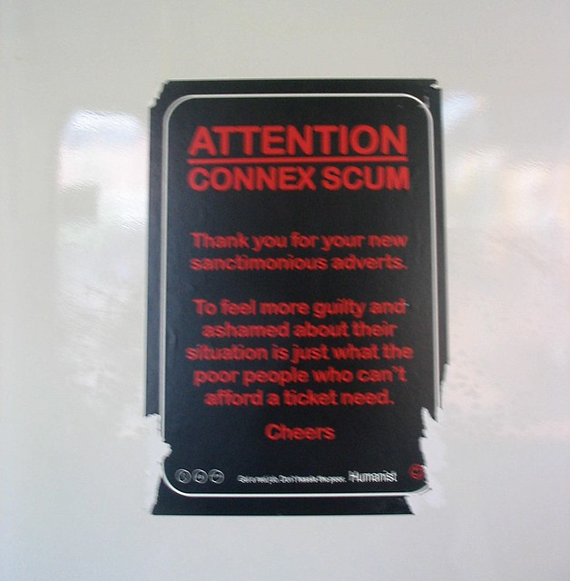 Anti-Metlink/Connex advertising, September 2007