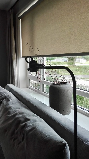 Leeslamp vensterbank kruik met takken