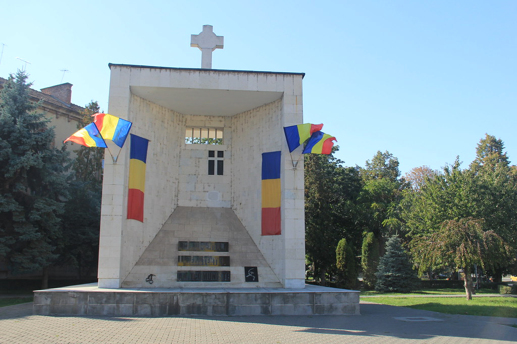 Monument spotted on route to Cetatuia Park