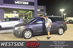 Happy Anniversary to Carlos on your #Kia #Sedona from Dennis Celespara at Westside Kia!