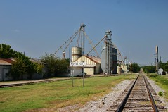 Grain Elevator and Railroad Tracks in Royse City Tx