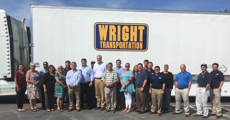 Senator Strange (R-AL) visit Wright Transportation in Mobile, AL