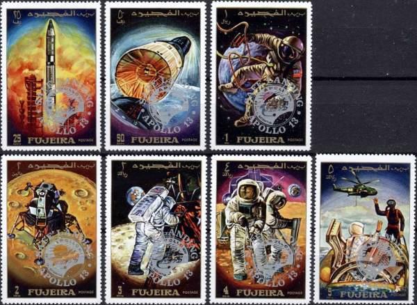 Známky Fujeira 1970 Apollo 12, nerazítkovaná séria
