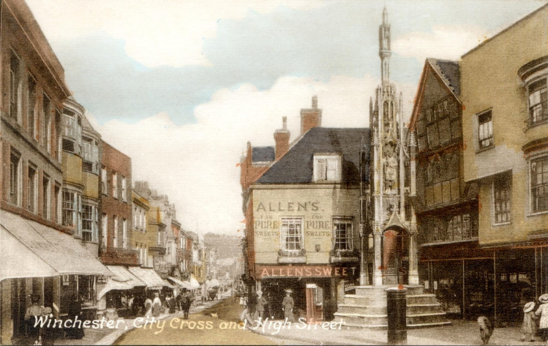 High Street, Winchester c 1890s. Credit Alwyn Ladell