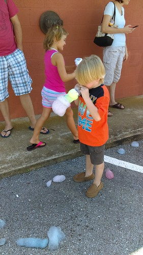 Calvert Library posted a photo:	Kids made bubble snakes at the Southern Branch!