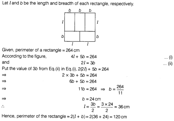 Ncert Exemplar Problems Class 7 Maths Perimeter And Area