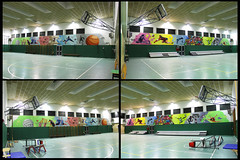School gym - the 2 sides - by WIZ ART
