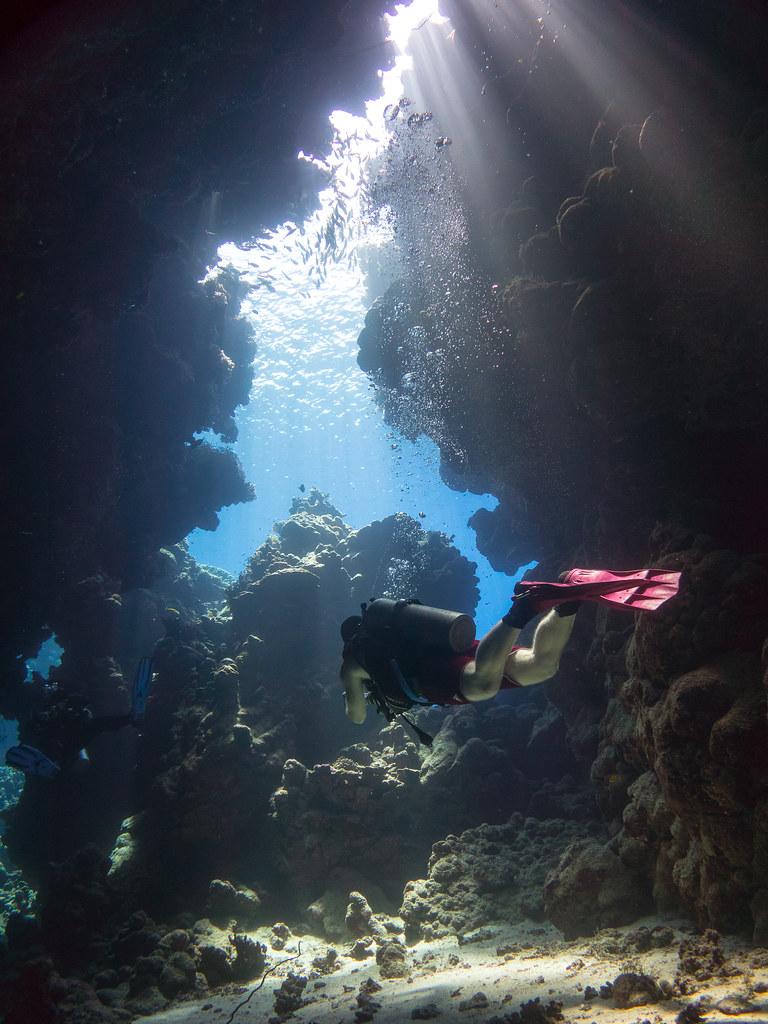 underwater cave system fotografia