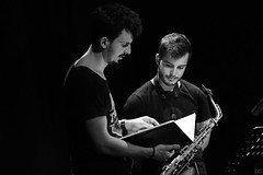 Antoine Pierre and Ben Van Gelder preparing for NextApe at théâtre Marni, 14 Antoine Pierre preparing for NextApe at théâtre Marni, 14 September 2017September 2017