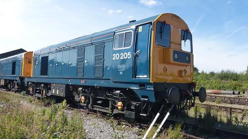 20 205 'British Rail' Class 20 loco /1 on Dennis Basford's railsroadsrunways.blogspot.co.uk