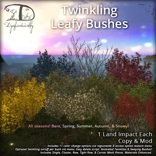 Twinkling Leafy Bushes - TeleportHub.com Live!