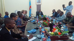 Mbuji-Mayi, Kasai Oriental Province, DR Congo: The MONUSCO Force Commander Lieutenant General Derrick MGWEBI during his operational visit in Kasai region from 8 to 11 August 2017, met with the Governor of Mbuji Mayi and the provincial security committee t